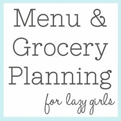 menu planning & grocery shopping printables via The Shabby Creek Cottage