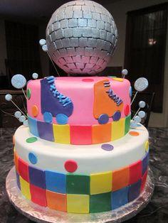 rollerskate disco cake | MoniCakes: Roller Skate Disco Ball Cake