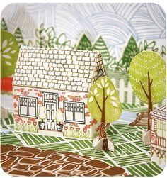 DIY: Letterpress Paper House Kit - Chandler Lane from 1canoe2 http://www.etsy.com/shop/1canoe2/ #paper_crafting #illustrations