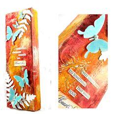creat inspir, art journal, inspir imagin, mixed media canvas, alter book