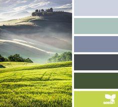 interior colors, color palettes, design seeds, blue green, color combinations, tuscan hue, paint, color charts, colour palettes