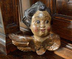 Antique German Carved Painted Antiqued Wood by VintageFleaFinds, $60.00