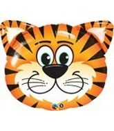 "30"" Mylar Tickled Tiger Balloon"