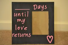 Vintage Military Spouses | Missing My Love Countdown Frame by afstrykerwife on Etsy