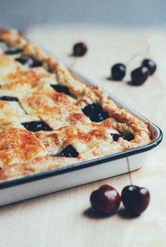 bing cherry slab pie - brooklynsupper.net