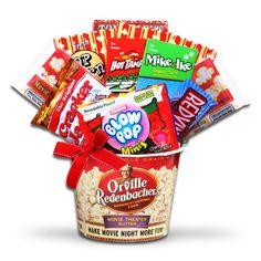 It`s Movie Night! Christmas Theme Movie Snacks Gift Basket