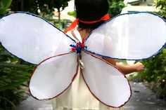 How to Make Fairy Wings: 11 steps - wikiHow project, costum, idea, craft, fairies, fairi wing, wire hangers, kid, halloween