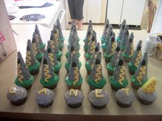 "Tower cupcakes for a ""Tangled"" birthday!!!"