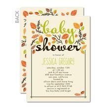 Sweet Autumn: Fern Baby Shower Invitations