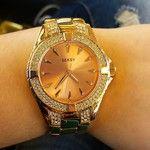 Got myself a lovely new present!! #watch #rosegold #seksy #bysekonda #swarovski #happygirl