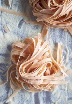 Homemade red(tomato) pasta