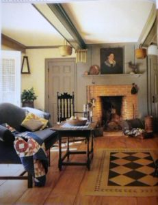 Absolute love the rug, the portrait, so colonial.