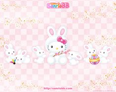 Hello Kitty as a cute bunny #hellokitty #cute #easter #bunny #wallpaper