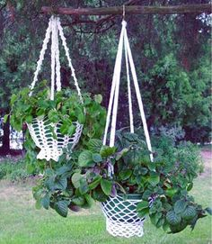 ... – Country Cottage Plant Hanger Pattern | Maggie's Crochet Blog I know right where to use these!