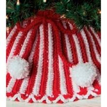Peppermint Stripes Tree Skirt - Premier Yarns