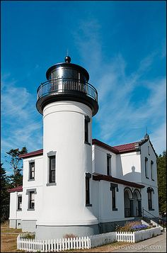 Admiralty Head Lighthouse at Fort Casey State Park, Whidbey Island, Washington.