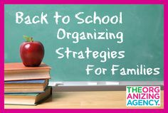 Back to School Organizing Strategies for Families