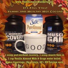 Yummy and healthy hot cocoa