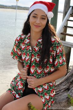 Festive and colourful & fun Ladies & Mens Hawaiian Christmas Shirts - get festive with our fab range. Some with matching shorts. #christmas2019 #matchymatchy #christmasshirt #fatherxmas #partyshirt #hawaiianshirt #christmasinjuly #aussiexmas #christmasinaustralia #ladieshawaiianshirts #ladieschristmasshirts #ladiesxmasshirts #festiveshirts #xmasshirt #partyshirt #fatherxmasshirt