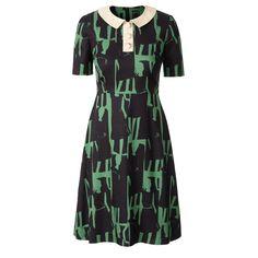 Orla Kiely: Peter Pan Colar Dress w/ great print        Length: 102cm