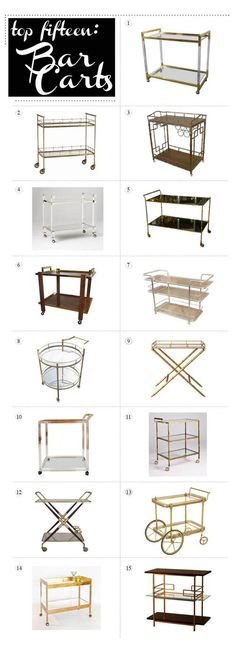 must. have. bar. cart. #3 is my fav....it's ONLY $515 :p