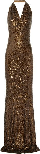 DONNA KARAN Sequined Cashmere and Silk-blend Gown - Lyst