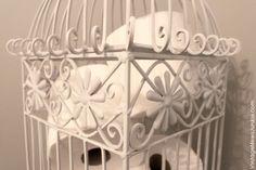 Birdcage in Your Bathroom {A Unique Storage Solution}