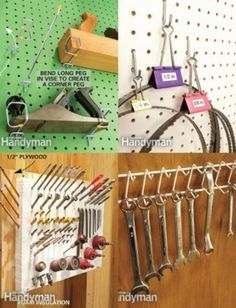 Metal Racks Hold Wrenches Securely - 49 Brilliant Garage Organization Tips, Ideas and DIY Projects