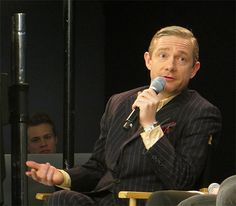 Martin at the Sherlock Q & A at the Apple Store in London (2-4-14)