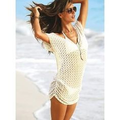 ...crocheted clothes as beach coverups...