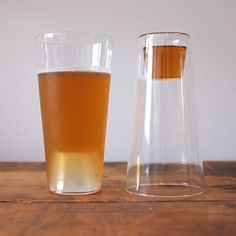 2-in-1 beer shot glasses via Cool Material - save cabinet space!