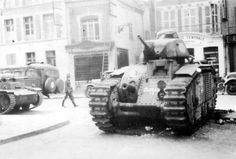 French B1 bis tank s/n 260 Ouragan, of 8e BCC, after its captured by German forces in 1940. #worldwar2 #tanks