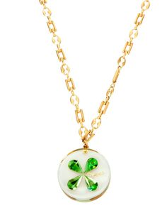 Chanel chanel, clovers, style, vintage, four leaf clover, clover necklac, necklaces, leaves, jewelri