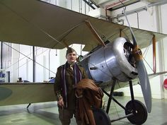 Captain T Poole and his Sopwith Pup by Rob Langham, via Flickr