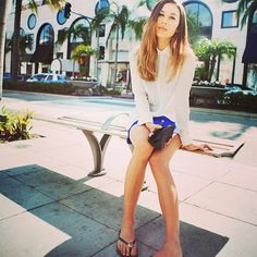 Fashion Toast blogger, Rumi Neely, poses on Rodeo Drive.