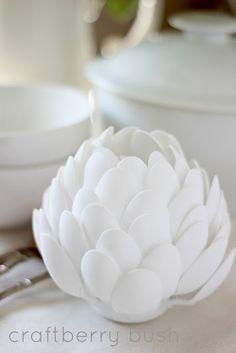 Craftberry Bush: Okey dokey artichokey....a spoon sculpture
