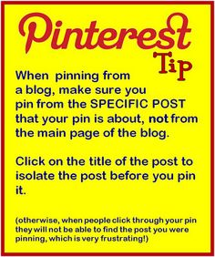 Pinning tip when you pin from a blog.