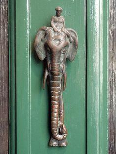 Elephant and mahout knocker