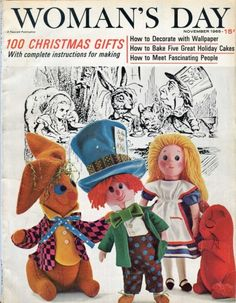 FREE Vintage Joan Russell Alice In Wonderland Doll Patterns