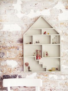 Gesso Dolls House Shelf - White
