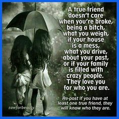 On being a true friend
