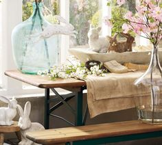 Cute table scape for Easter