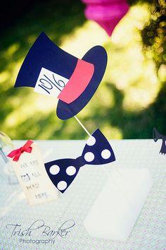 Mad Hatter -  Alice in Wonderland Photo Booth Prop by windrosie, via Flickr