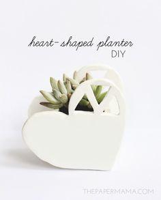 heart shaped mini-planter