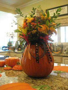 pumpkin as a vase