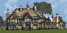Lolek House Plan: 2 story, 12048 square foot, 5 bedroom, 5 full bathrooms