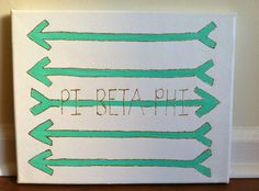 Canvas craft for my little angel. Pi Beta Phi