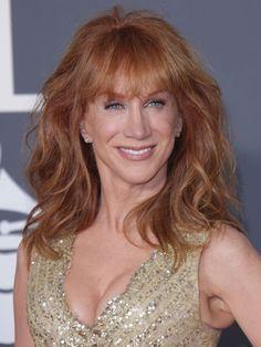 Kathy Griffins long elegant hairstyle