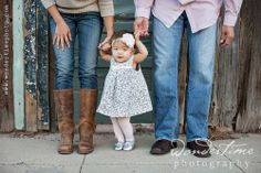This photo was taken during this family's urban family session in downtown Tucson, Arizona ~ how cute is this little baby girl? :)  www.wondertimephoto.com