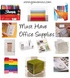 One of the best parts about organizing your office ~ How to Choose Must Have Office Supplies